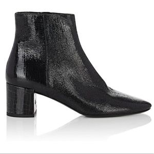 SAINT LAURENT YSL crackled leather boots NIB $995